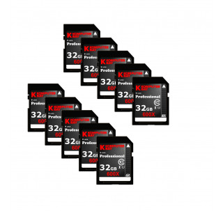 Komputerbay 10-PACK - 32GB SDHC Secure Digital High Capacity Speed Class 10 600X UHS-I Ultra High Speed Flash Memory Card 40MB/s Write 90MB/s Read 32 GB