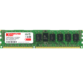 Komputerbay 16GB 1x16GB 1333MHz DDR3 PC3-10666 ECC Registered CL9 DIMM DR x4 Server Memory 16 GB