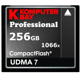 Komputerbay 256GB Professional Compact Flash card 1066X CF write 155MB/s read 160MB/s Extreme Speed UDMA 7 RAW