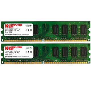 Komputerbay 4GB ( 2 x 2GB ) DDR2 DIMM (240 PIN) AM2 667Mhz PC2 5400 / PC2 5300 FOR Asus M3A78-EM 4 GB