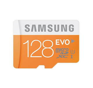 Samsung 128GB Mobile MicroSDXC Card Class 10 High-Speed Micro SDXC upto 48MB / s with Komputerbay SD adaptor and High Speed USB Reader