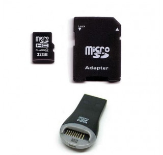 Image for Komputerbay 32GB MicroSD SDHC Microsdhc Class 4 with Micro SD Adapter and USB Reader