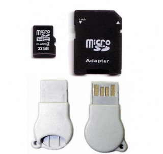 Image for Komputerbay 32GB MicroSD SDHC Microsdhc Class 4 with Micro SD Adapter and N111 USB adapter