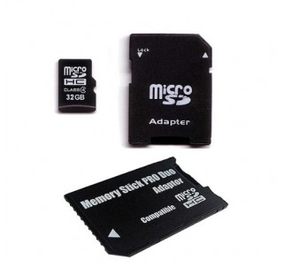 Image for Komputerbay 32GB MicroSD SDHC Microsdhc Class 4 with Micro SD Adapter and Pro Duo Adapter
