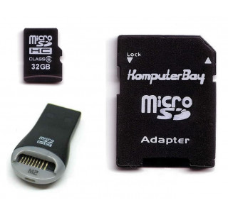 Image for Komputerbay 32GB MicroSD SDHC Microsdhc Class 6 with Micro SD Adapter and USB Reader