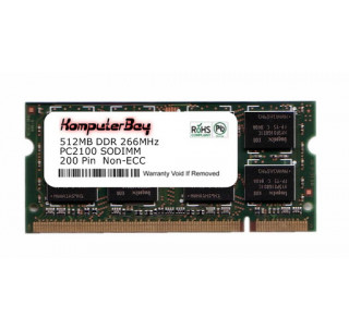 Image for Komputerbay 512MB DDR SODIMM (200 pin) 266Mhz DDR266 PC2100 FOR VPR  Matrix 175B4 512 MB