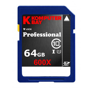 Komputerbay SDXC 64 GB Secure Digital Extended Capacity Speed Class 10 UHS-I 600X Ultra High Speed Flash Memory Card 40M / s Write 90MB / s Read 64 GB