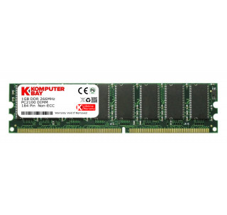 KOMPUTERBAY 1GB DDR DIMM (184 PIN) 266Mhz DDR266 PC2100 DESKTOP MEMORY