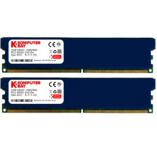 Komputerbay 4GB 2x 2GB DDR2 PC2 8500 1066Mhz 240 Pin DIMM 4 GB KIT - comes with Heat Spreader for extra Cooling