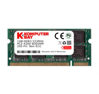 Komputerbay 1GB DDR2 533MHz PC2-4200 PC2-4300 DDR2 533 (200 PIN) SODIMM Laptop Memory