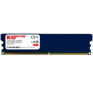 KOMPUTERBAY 4GB DDR2 DIMM (240 PIN) 800Mhz PC2 6400 PC2 6300 with Heatspreaders 4 GB - CL 5