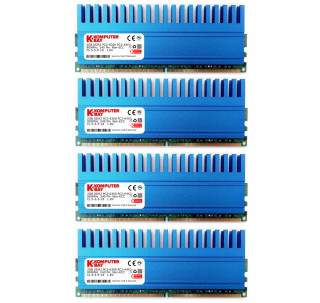 Komputerbay 8GB (4 X 2GB) DDR2 DIMM (240 pin) 800MHZ PC2-6400 PC2-6300 8 GB KIT with Crown Series Heatspreaders for extra Cooling CL 5-5-5-18