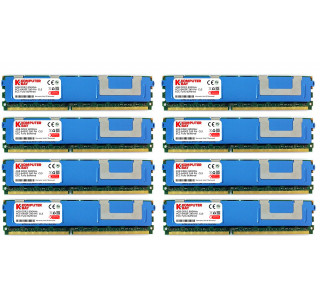 Komputerbay 32GB (8x 4GB) DDR2 PC2-6400F 800MHz ECC Fully Buffered FB-DIMM (240 PIN) 32 GB w/ Heatspreaders