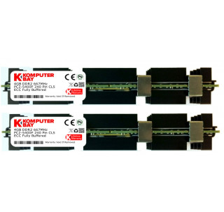 Komputerbay 8GB (2x 4GB) DDR2 PC2-5300F 667MHz CL5 ECC Fully Buffered FB-DIMM (240 PIN) 8 GB w/ Heatspreaders for Apple computers