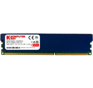 Komputerbay 8GB DDR3 PC3-12800 1600MHz DIMM with Blue Low Profile Heatspreaders 240-Pin Dual / Quad Channel RAM Desktop Memory KIT 10-10-10-27 Single 8GB Stick XMP ready