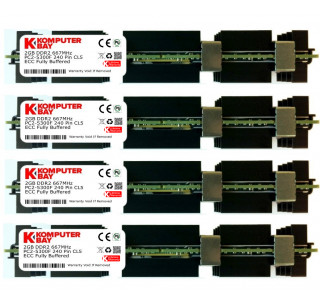 Komputerbay 8GB (4X2GB) APPLE MAC PRO MEMORY ECC FULLY BUFFERED DDR2 667 PC2-5300F PC2-5300 2Rx4 FB DIMM CL5 (240 PIN) w/ Heatspreaders