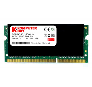 Komputerbay 8GB DDR3 PC3-12800 1600MHz SODIMM 204-Pin Laptop Memory with Black Heatspreader