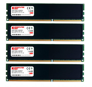 Komputerbay 32GB (4x 8GB) 240 Pin RAM Desktop Memory 1600MHz PC3-12800 DDR3 DIMM with Heatspreaders - Black