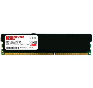 Komputerbay 8GB (1x 8GB) DDR3 PC3-12800 1600MHz DIMM with Black Low Profile Heatspreaders 240-Pin Dual / Quad Channel RAM Desktop Memory KIT 10-10-10-27 XMP ready for Intel Based Computers