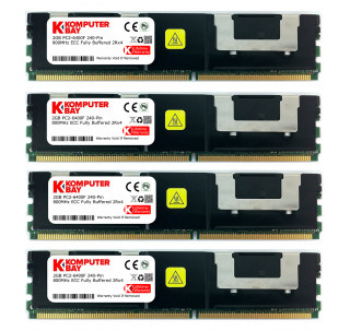 Komputerbay 8GB (4x) 2GB DDR2 PC2-6400F 800 MHz ECC Fully Buffered 2Rx4 FB-DIMM (240 PIN) w / Heatspreaders