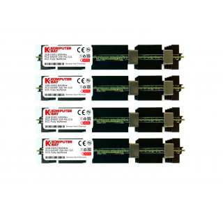 Komputerbay 8GB (4x 2GB) DDR2 PC2-6400F 800MHz ECC Fully Buffered 2Rx4 FB-DIMM (240 PIN) w/ Heatspreaders for Apple MAC computers