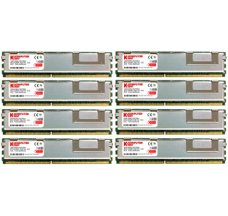 KOMPUTERBAY 16GB (8X2GB) PC2-5300F 667MHz CL 5 240-Pin FBDIMM Fully Buffered Memory Upgrade for Dell 490 690 T7400 Precision Workstation