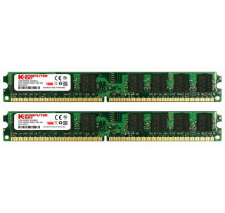 Komputerbay 4GB (2X 2GB) DDR2 800MHz PC2-6300 PC2-6400 (240 PIN) DIMM Desktop Memory with Samsung Semiconductors