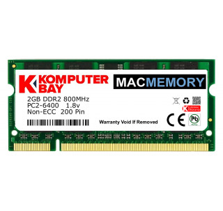 Komputerbay MACMEMORY Apple 2GB PC2-6300 800MHz DDR2 SODIMM for iMac and Macbook Memory