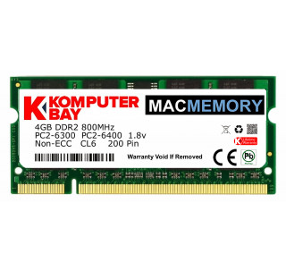 Komputerbay MACMEMORY Apple 4GB (single 4GB stick) PC2-6300 800MHz DDR2 SODIMM iMac and Macbook Memory