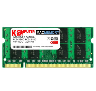 Komputerbay MACMEMORY 1GB DDR2 667MHz PC2-5300 PC2-5400 (200 Pin) SODIMM for Apple Mac