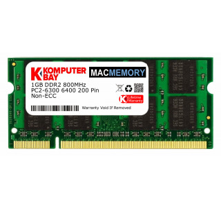 Komputerbay MACMEMORY 1GB DDR2 800MHz PC2-6300 PC2-6400 (200 Pin) SODIMM for Apple Mac