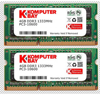 Komputerbay 8GB (2x 4GB) DDR3 SODIMM (204 pin) 1333Mhz PC3-10600 (9-9-9-25) Laptop Notebook Memory for Apple Mac Mini
