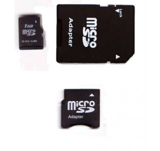 Komputerbay 1GB MicroSD with SD Adapter and Mini SD Adapter
