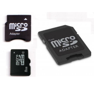 Komputerbay 8GB microSDHC Class 6 with Micro SD Adapter and Mini SD Adapter