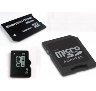 Komputerbay 8GB microSDHC Class 6 with Micro SD Adapter and Pro Duo Adapter