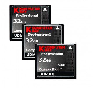 KOMPUTERBAY 3-PACK - 32GB Professional COMPACT FLASH CARD CF 600X 90MB/s Extreme Speed UDMA 6 RAW 32 GB