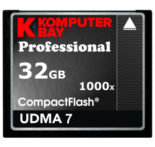 Komputerbay 32GB Professional 1000x CF COMPACT FLASH CARD 150 MB / s Extreme speed UDMA 7 RAW 32 GB
