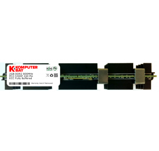 Komputerbay 2GB (1x 2GB) DDR2 PC2-6400F 800MHz ECC Fully Buffered 2Rx4 FB-DIMM (240 PIN) w/ Heatspreaders for Apple MAC computers