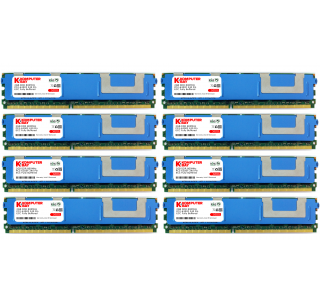 Komputerbay 16GB (8x) 2 GB DDR2 800 MHz PC2-6400F ECC Fully Buffered 2Rx4 FB-DIMM (240 PIN) w / Heatspreaders