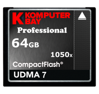 KOMPUTERBAY 64GB Professional COMPACT FLASH CARD CF 1050X WRITE 100MB/S READ 160MB/S Extreme Speed UDMA 7 RAW 64 GB