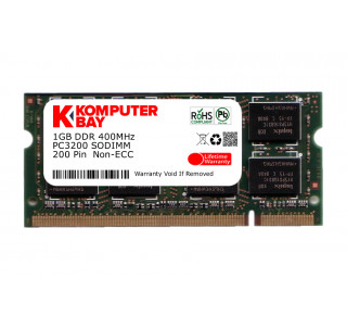 KOMPUTERBAY 1GB DDR SODIMM (200 pin) 400MHz DDR400 PC3200 LAPTOP NOTEBOOK MEMORY