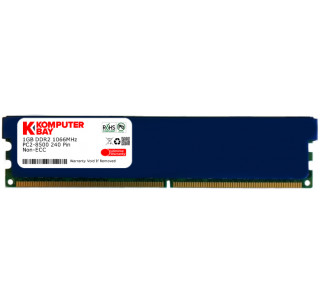 Komputerbay 1GB DDR2 PC2 8500 1066Mhz 240 Pin DIMM 1 GB - comes with Heat Spreader for extra Cooling