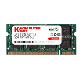 Komputerbay 1GB DDR2 667MHz PC2-5300 PC2-5400 DDR2 667 (200 PIN) SODIMM Laptop Memory