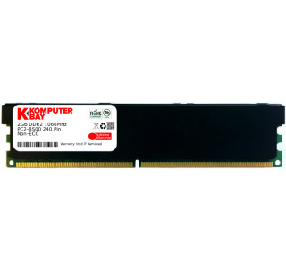 Komputerbay 2GB DDR2 PC2 8500 1066Mhz 240 Pin DIMM 2 GB - comes with Heat Spreader for extra Cooling ( 5-7-7-25 at 1.8V)
