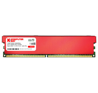 Komputerbay 2GB DDR2 DIMM (240 pin) 800MHZ PC2-6400 PC2-6300 Desktop RAM with Red Heatspreaders for extra Cooling CL 5-5-5-18