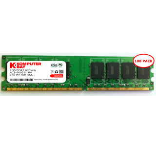 Komputerbay 100-PACK-2GB DDR2 800MHz PC2-6300 PC2-6400 DDR2 800 (240 PIN) DIMM Desktop Memory