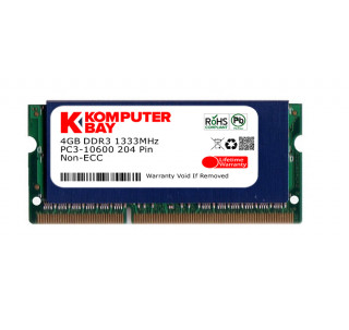 Komputerbay 4GB DDR3 SODIMM (204 pin) made with Hynix semiconductors 1333Mhz PC3 10600 4 GB with SODIMM Heatsink for extra cooling (8-8-8-24)