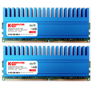 Komputerbay 4GB (2 X 2GB) DDR2 DIMM (240 pin) 800MHZ PC2-6400 PC2-6300 4 GB KIT with Crown Series Heatspreaders for extra Cooling CL 5-5-5-18