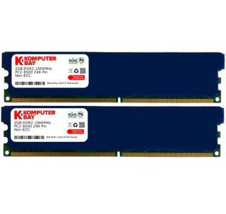 Komputerbay 4GB 2X 2GB DDR2 1066MHz PC2-8500 DDR2 1066 (240 PIN) DIMM Desktop Memory with Heatspreaders