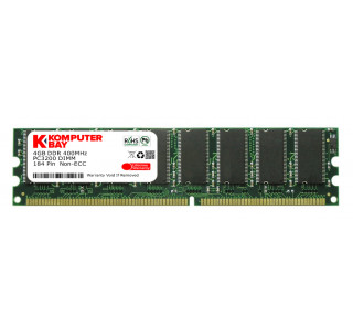 KOMPUTERBAY 1GB DDR DIMM (184 PIN) 400Mhz PC3200 CL 3.0 HIGH DENSITY DESKTOP MEMORY - Not for Intel based motherboards like Dell, Sony, etc